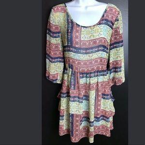 BAND OF GYPSIES Tunic Top Blouse Boho Chic Dress